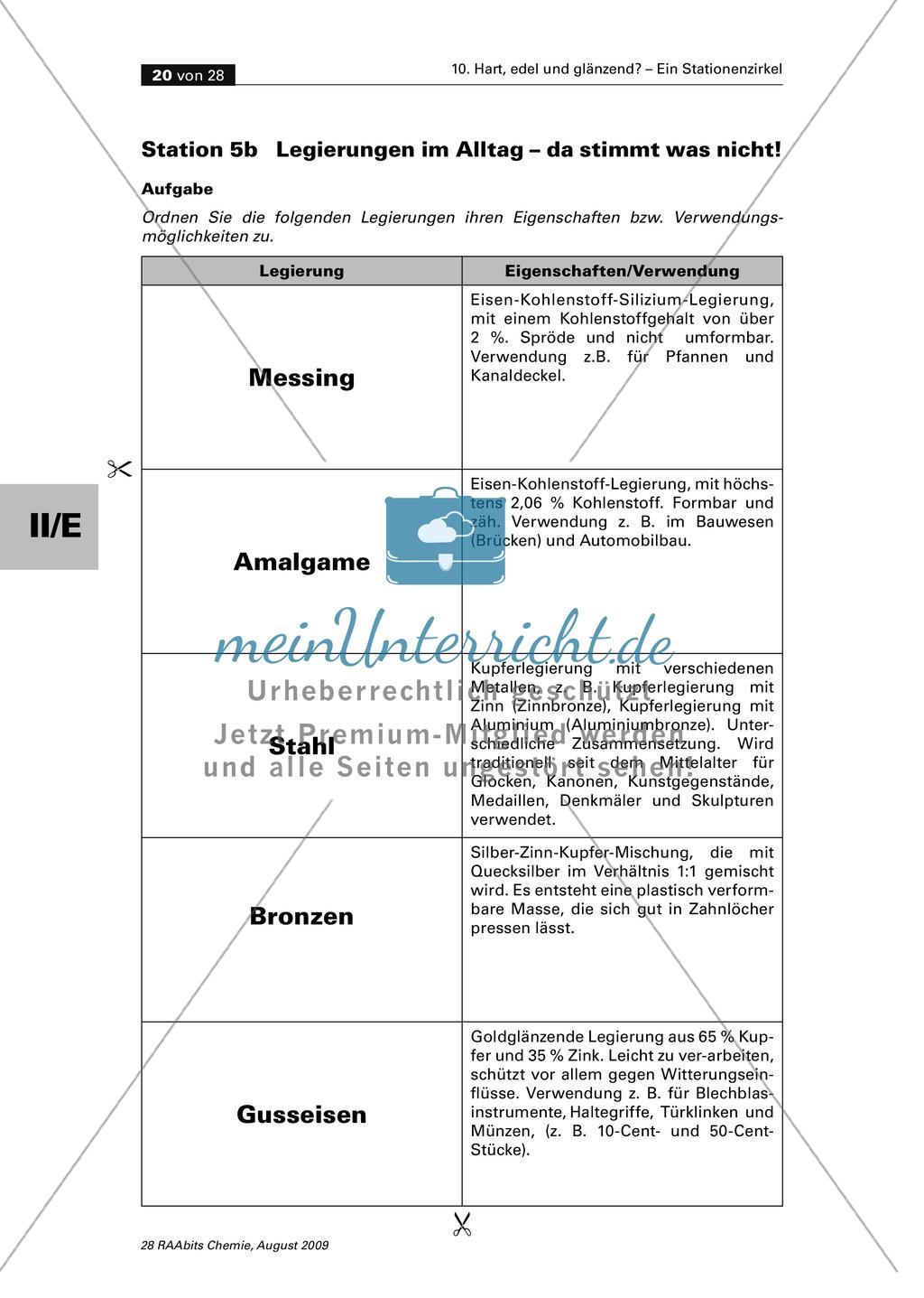 Eigenschaften und Herstellung von Legierungen Preview 2
