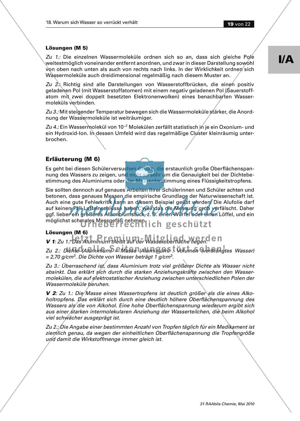 Wasser ein polarer Stoff - Wasserstoffbrückenbindungen und Dipoleigenschaften Preview 7