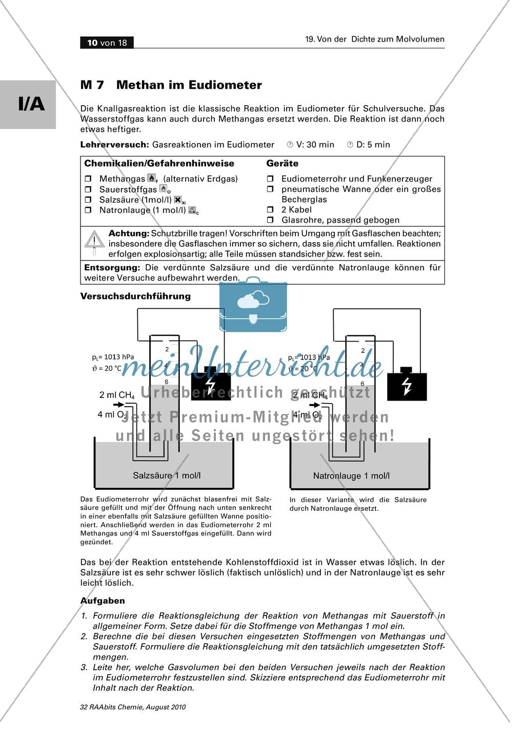 Quantitative Auswertung von Gasreaktionen mit dem Eudiometer Preview 1