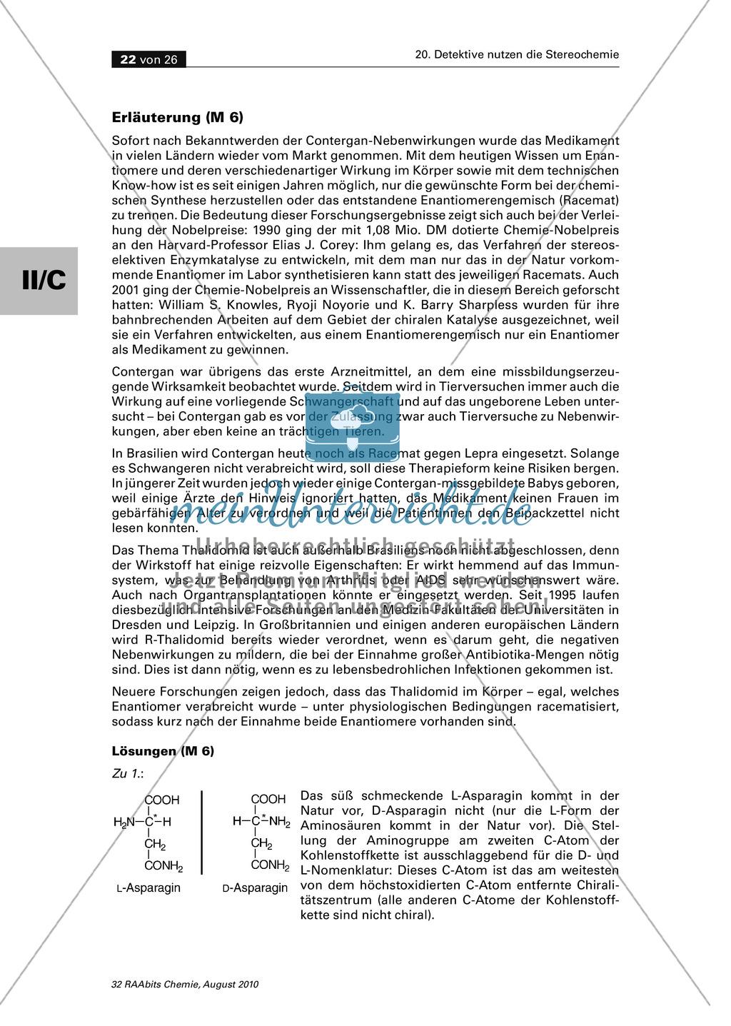 Die Stereochemie im spannenden Kontext: Aufklärung eines fiktiven Todesfalls durch L-(+)-Muscarin (Fliegenpilze) Preview 17