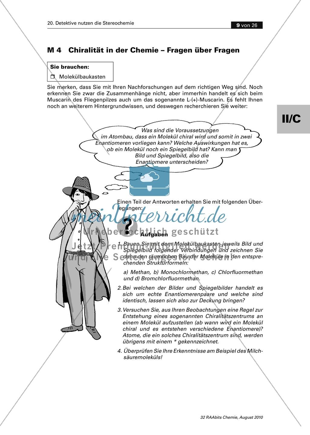 Die Stereochemie im spannenden Kontext: Aufklärung eines fiktiven ...