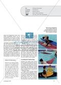 Wassersport: Anregungen und Ideen für Unterricht, bei dem Schüler das erste mal in einem Kajak sitzen Preview 2