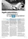 Wassersport: Infotext über typische Probleme des Segelunterrichts und deren Lösungen Preview 1