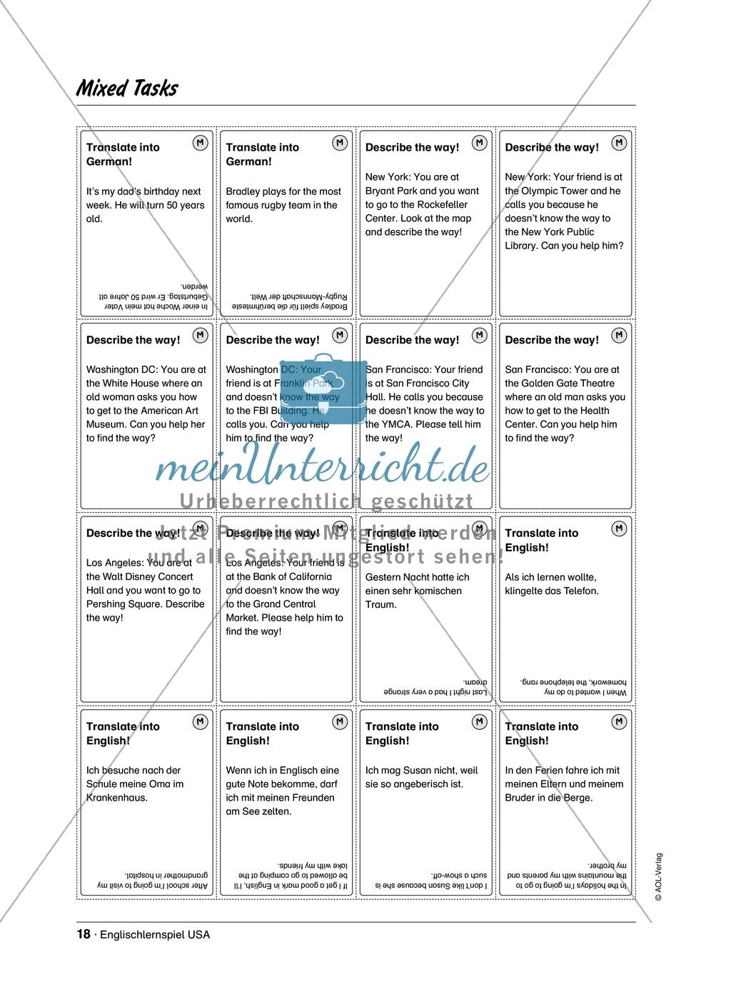 Englischlernspiel USA: Spielkarten + Informationen zu Sehenswürdigkeiten Preview 13