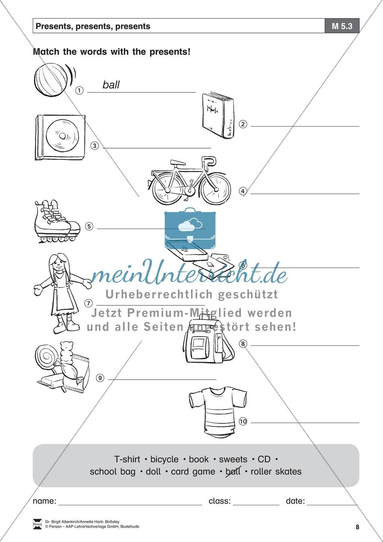 """""""Birthday"""" - Unterrichtseinheit für die Klassen 5-6: Now I am a teen - Arbeitsblätter + Übungen Preview 6"""