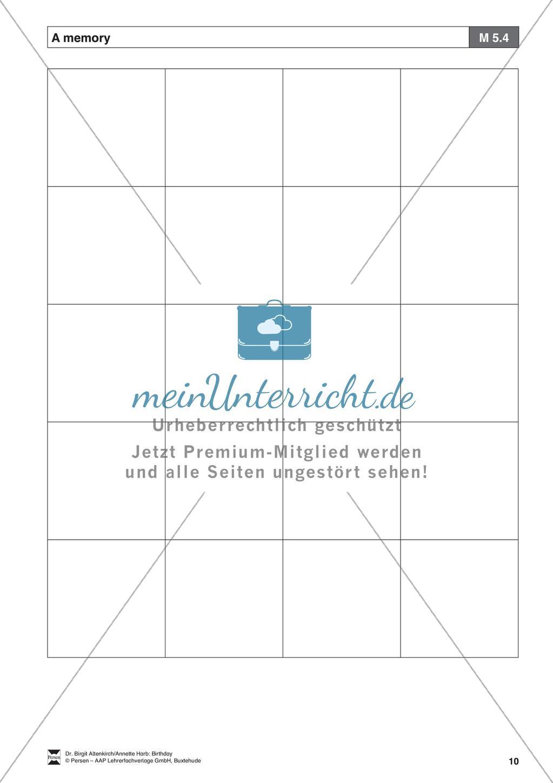 """""""Birthday"""" - Unterrichtseinheit für die Klassen 5-6: Now I am a teen - Arbeitsblätter + Übungen Preview 8"""
