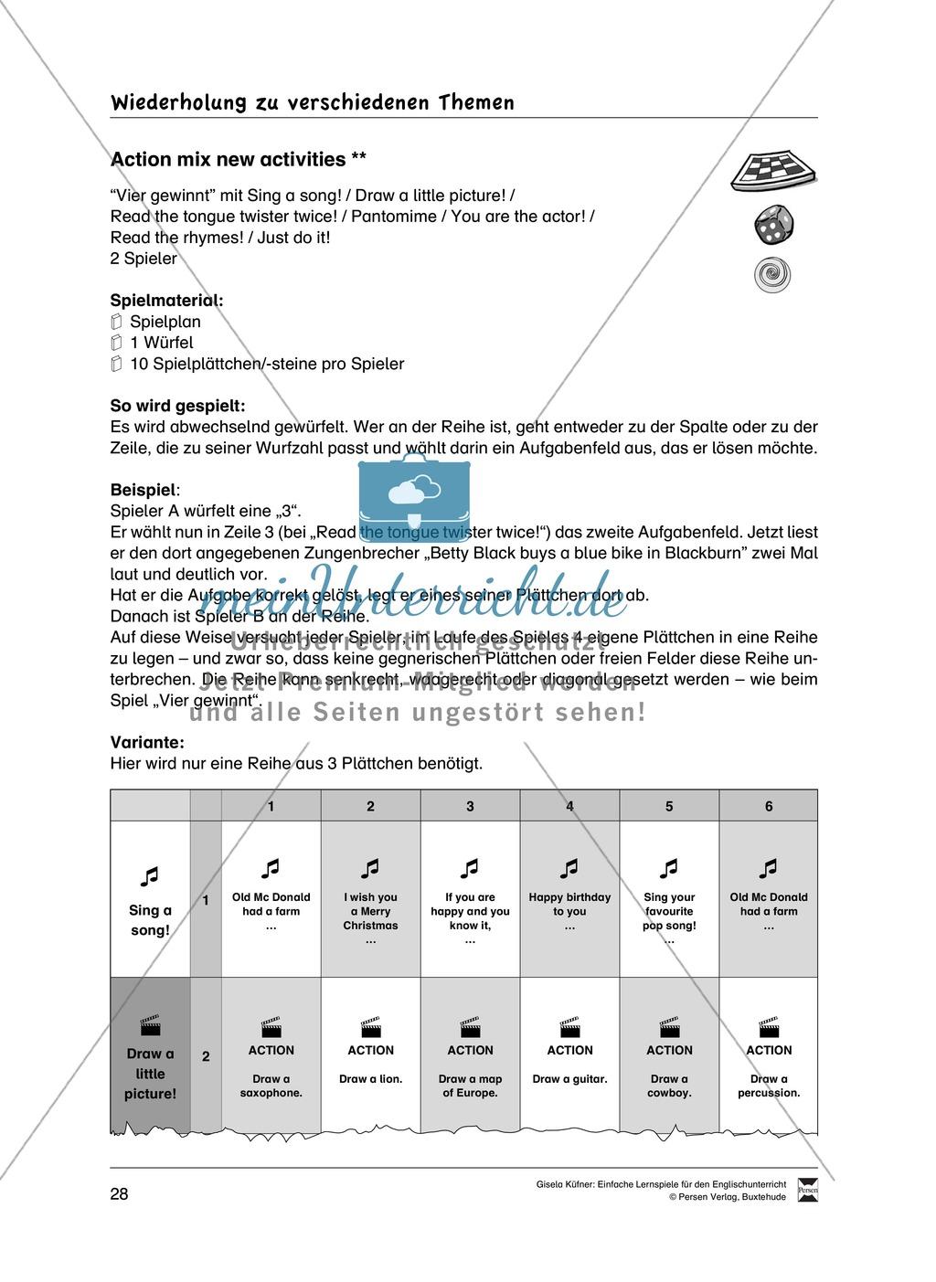 Lernspiele: Wortschatz, Rechtschreibung und Wahrnehmung, unregelmäßige Verben, Mitlautverdopplung, Vokale Preview 4
