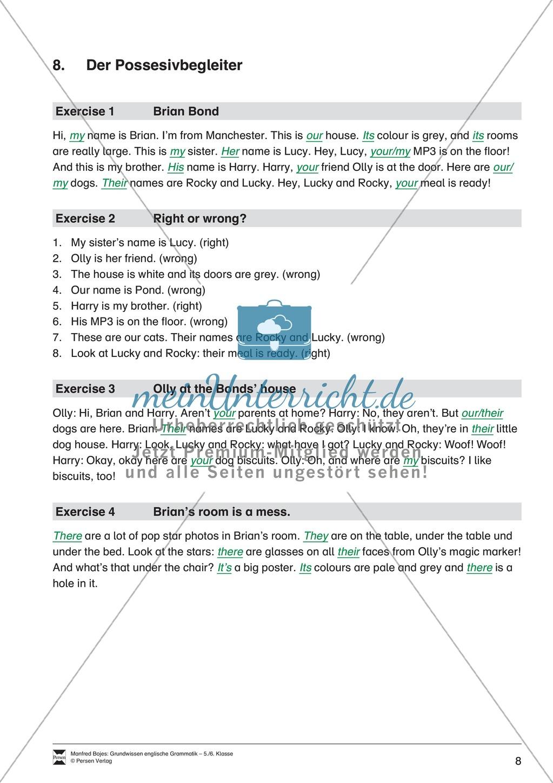 Die Personalpronomen: Erklärung + Beispiele + Übungen Preview 11
