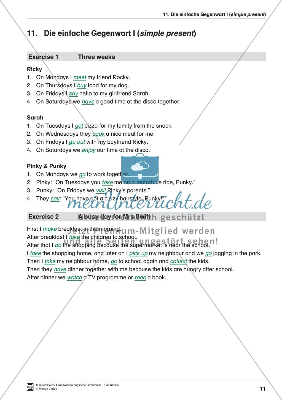 Die Personalpronomen: Erklärung + Beispiele + Übungen Preview 14