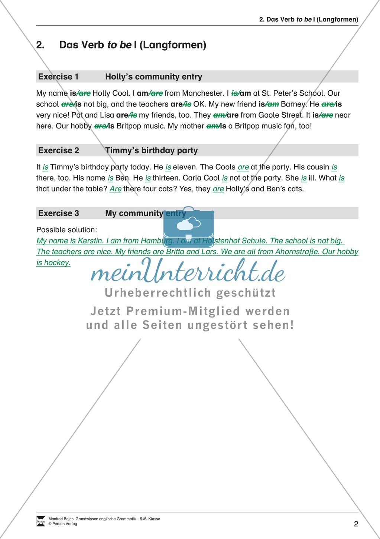 Erfreut Klasse 6 Englisch Grammatik Arbeitsblatt Zeitgenössisch ...