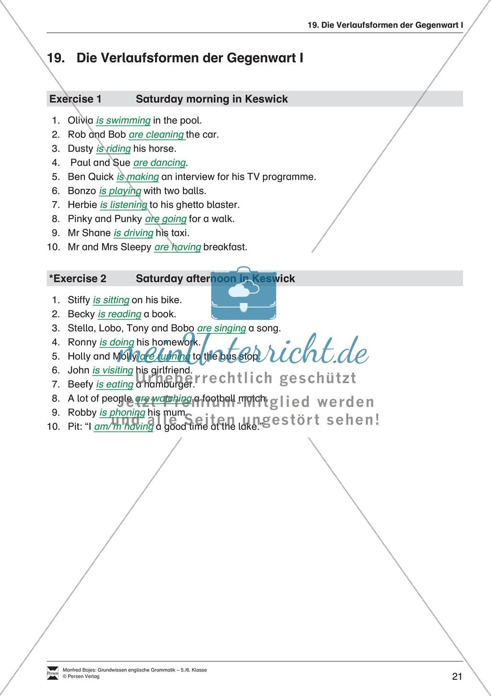 Die Personalpronomen (Objektformen): Erklärung + Beispiele + Übungen Preview 24