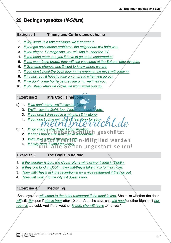 Bedingungssätze (if-Sätze): Erklärung + Beispiele + Übungen Preview 41