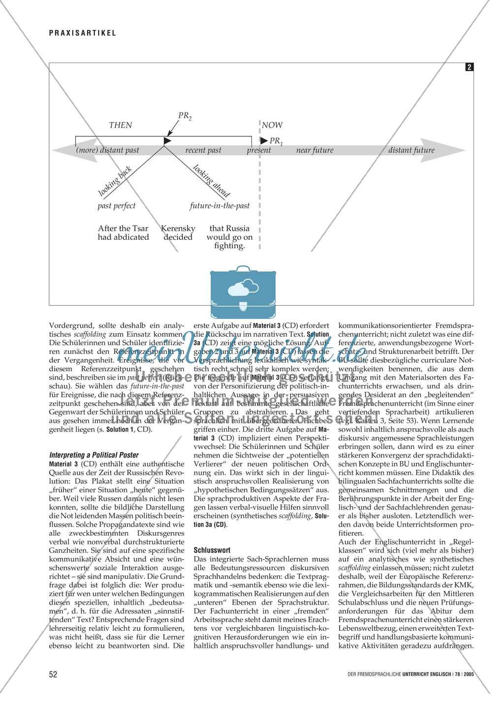 Chronological sequencing. Eine Methode zum integrierten Sach-Sprachlernen: Praxisartikel Preview 2