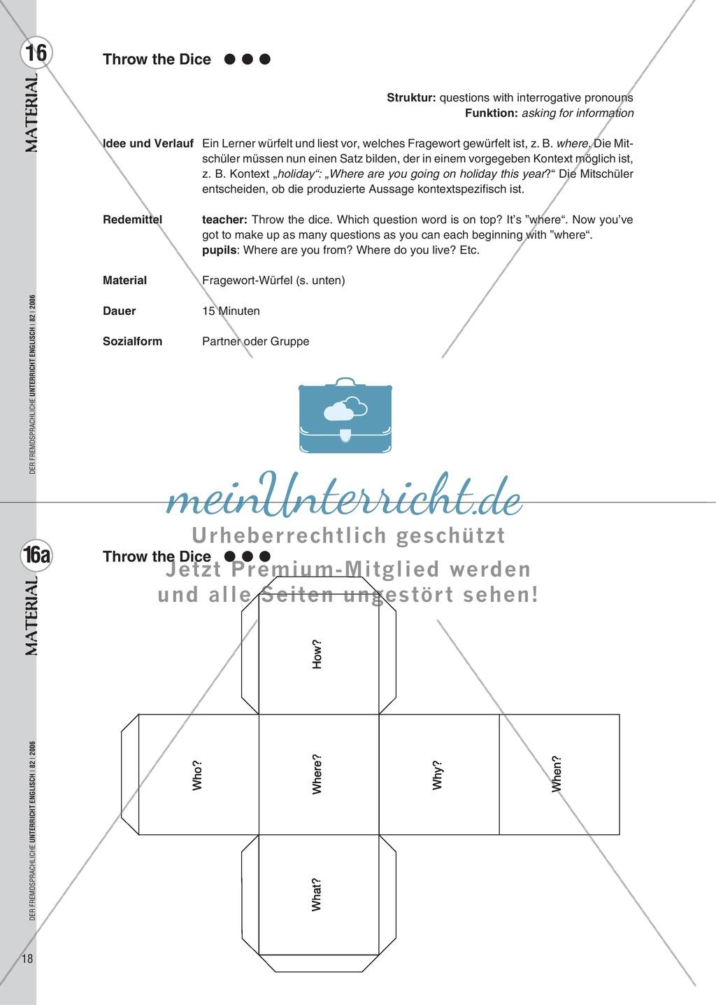 Spielekartei. 25 kommunikative Grammatikübungen: Praxisartikel Preview 9