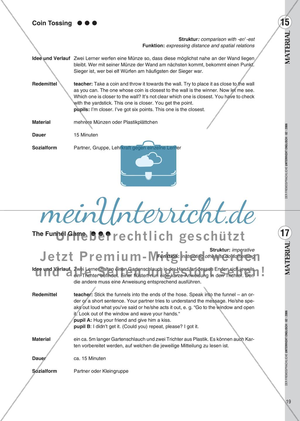 Spielekartei - 25 kommunikative Grammatikübungen Preview 11