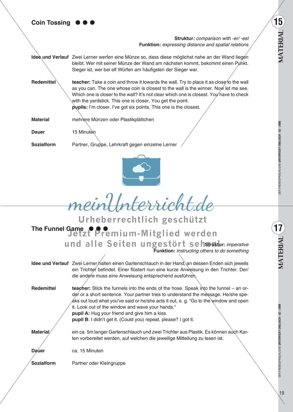 Spielekartei. 25 kommunikative Grammatikübungen: Praxisartikel Preview 10