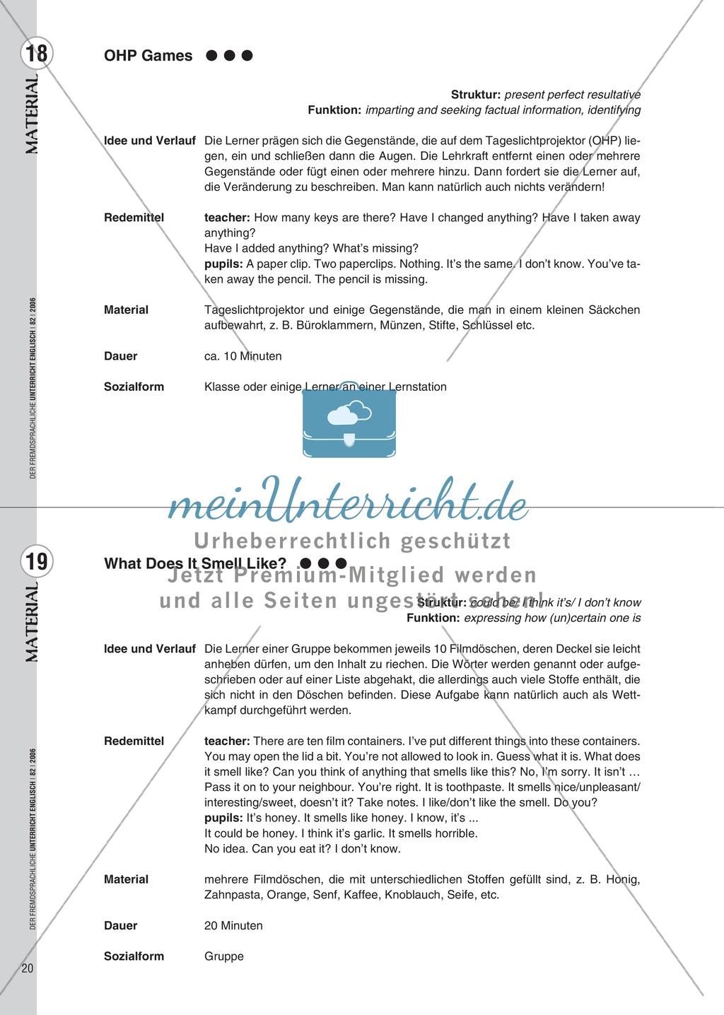 Spielekartei. 25 kommunikative Grammatikübungen: Praxisartikel Preview 11