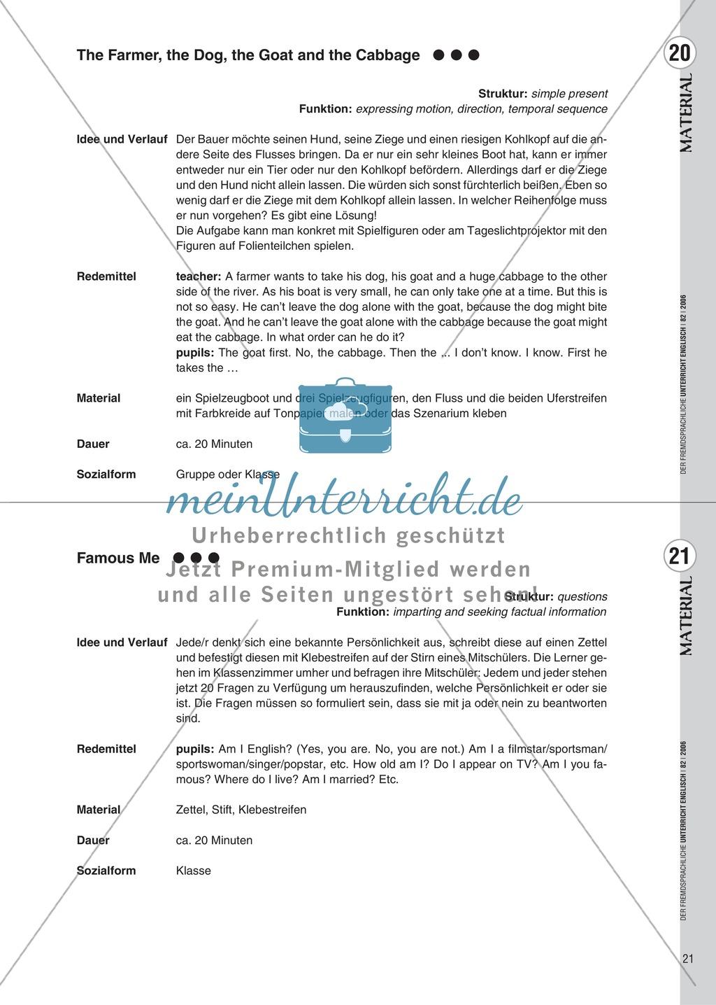 Spielekartei. 25 kommunikative Grammatikübungen: Praxisartikel Preview 12