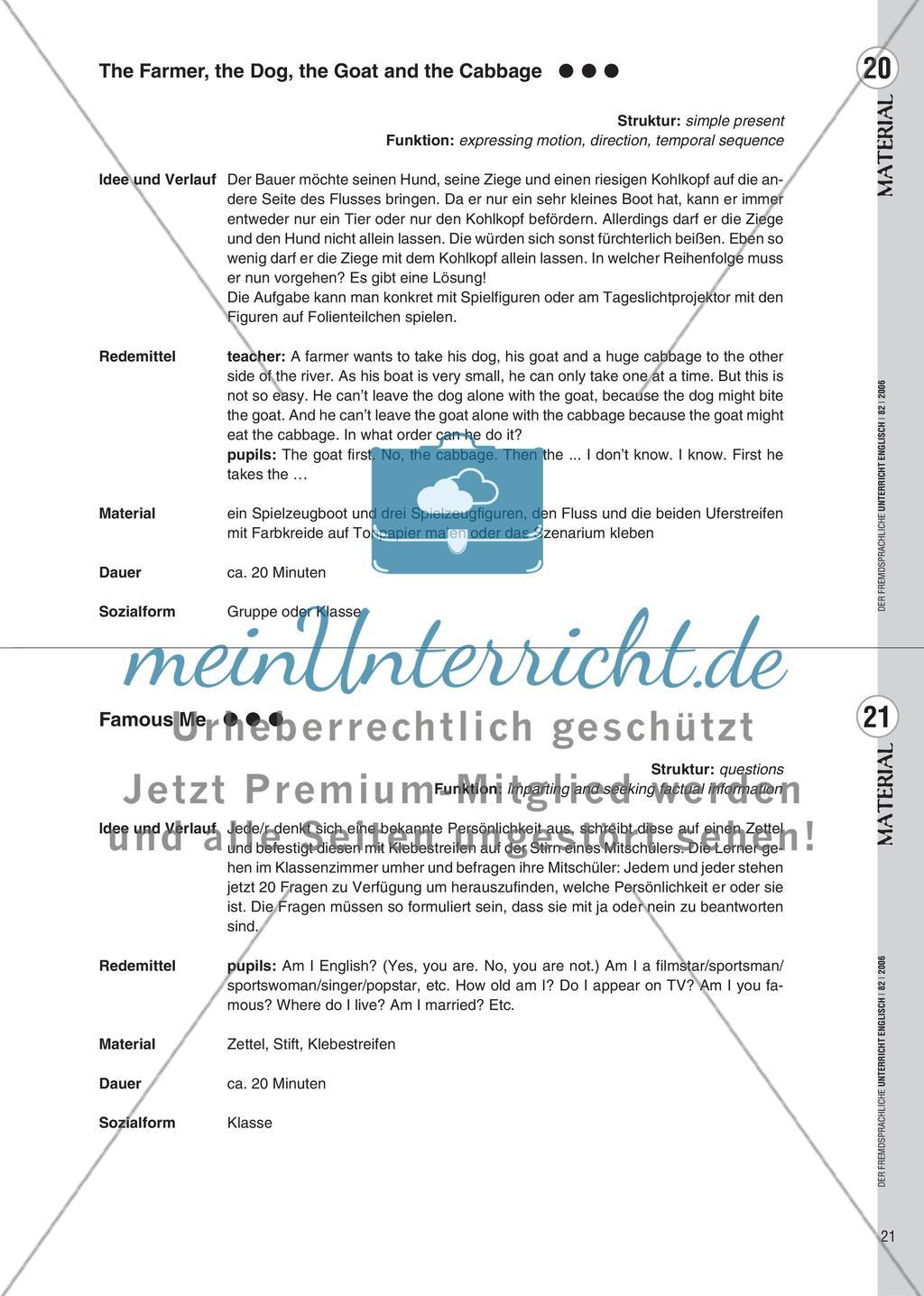 Spielekartei - 25 kommunikative Grammatikübungen Preview 13