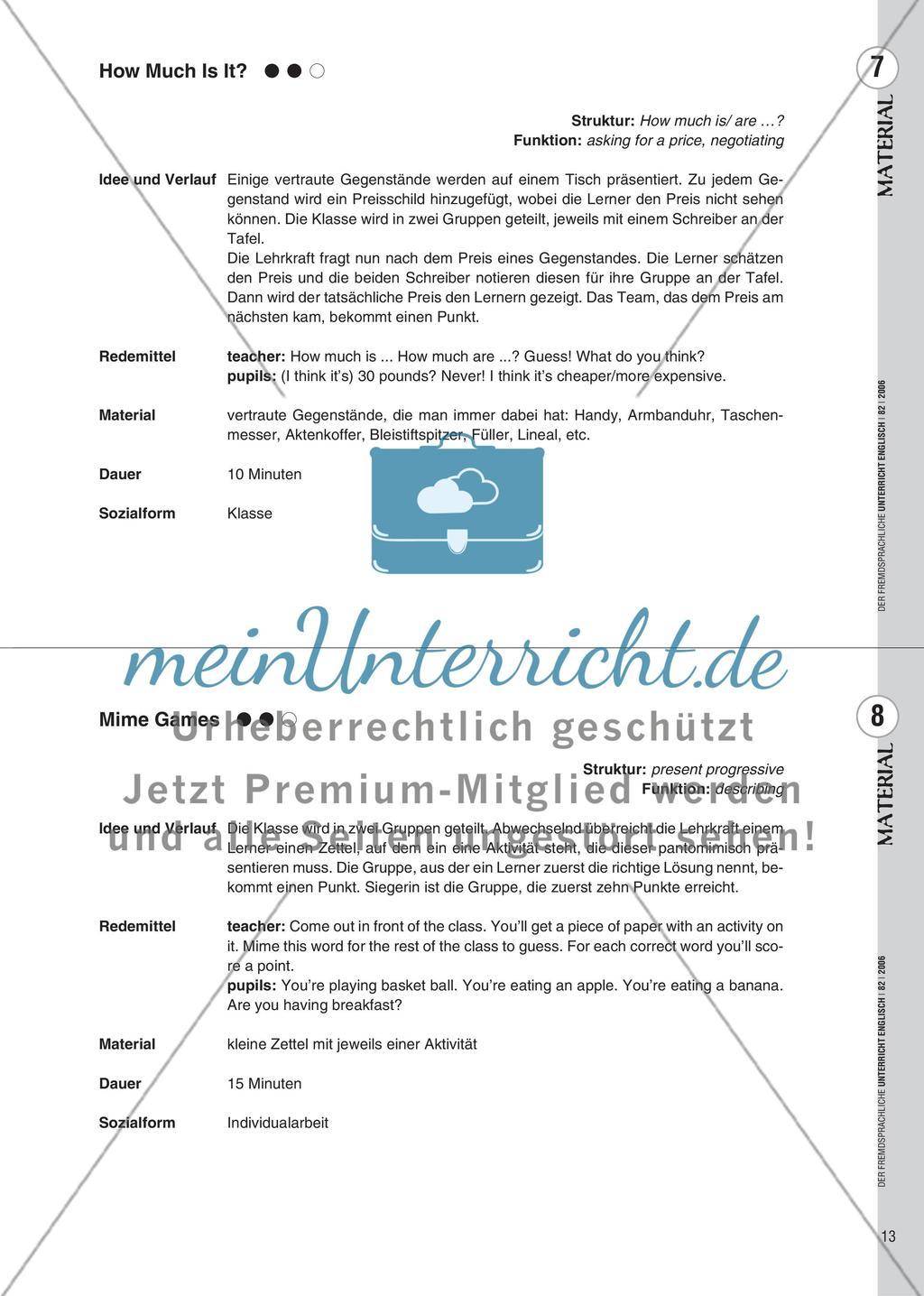Spielekartei - 25 kommunikative Grammatikübungen Preview 5