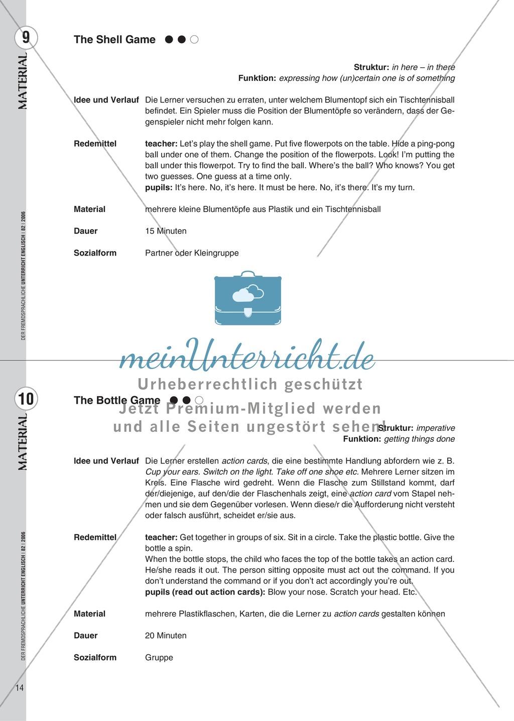 Spielekartei. 25 kommunikative Grammatikübungen: Praxisartikel Preview 5
