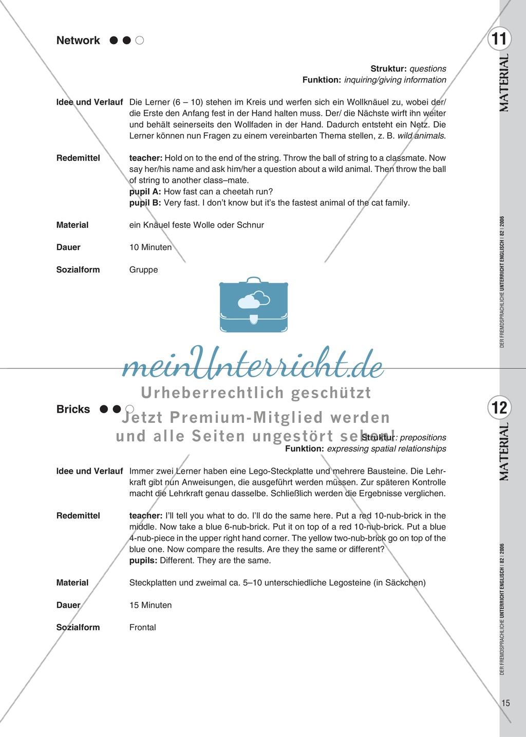 Spielekartei. 25 kommunikative Grammatikübungen: Praxisartikel Preview 6