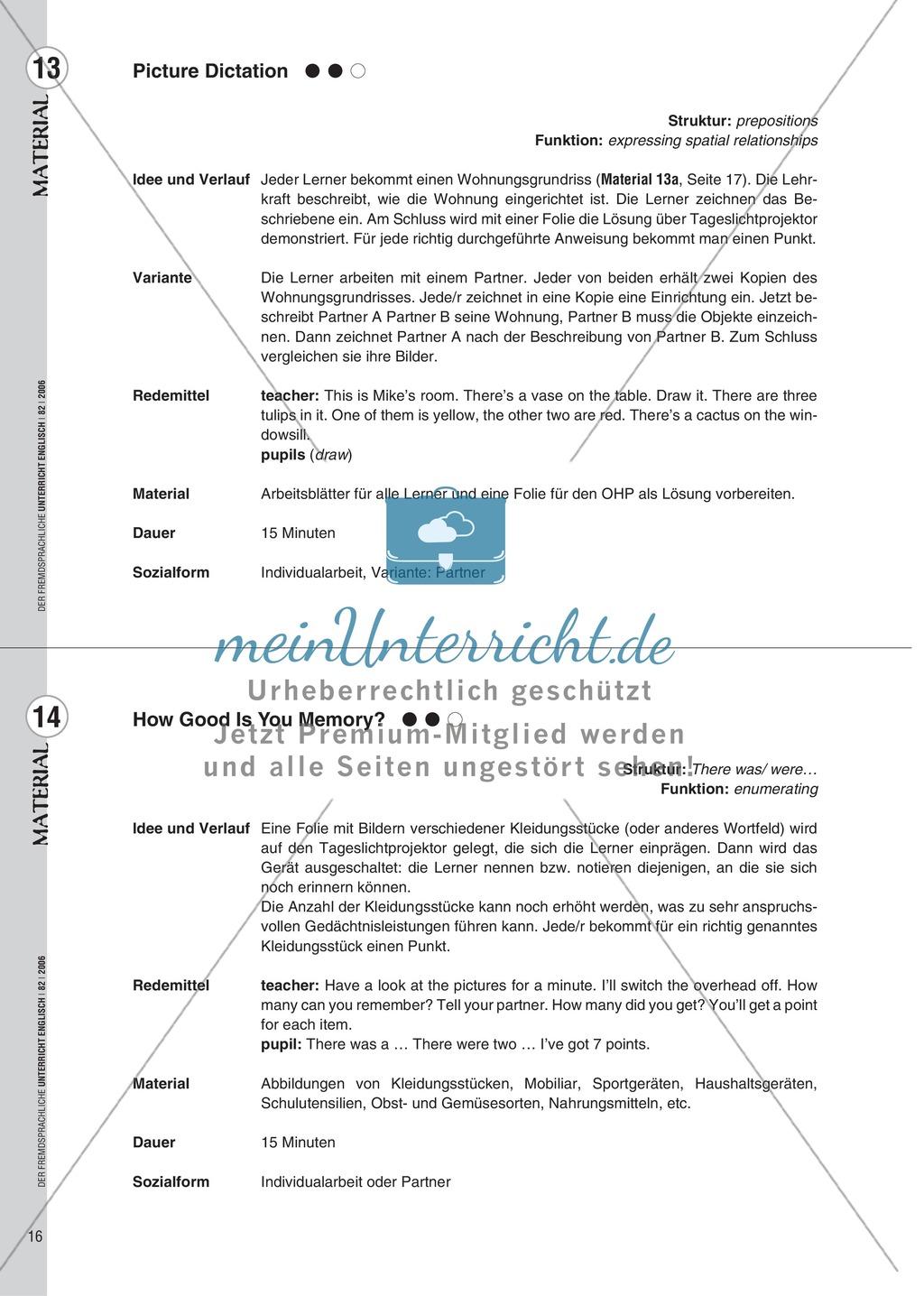 Spielekartei. 25 kommunikative Grammatikübungen: Praxisartikel Preview 7