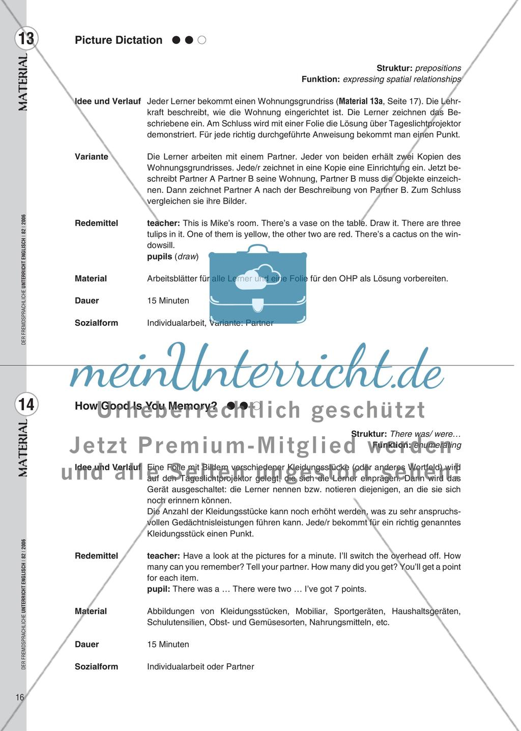 Spielekartei - 25 kommunikative Grammatikübungen Preview 8