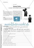 Personal Profiles - Sich vorstellen und Informationen erfragen Preview 1