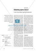 Debating opens doors. In einer 'formal debate' Argumente austauschen: Praxisartikel Preview 1
