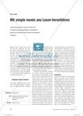 Englisch, Kompetenzen, Kommunikative Fertigkeiten, Lesen / reading, simple novel