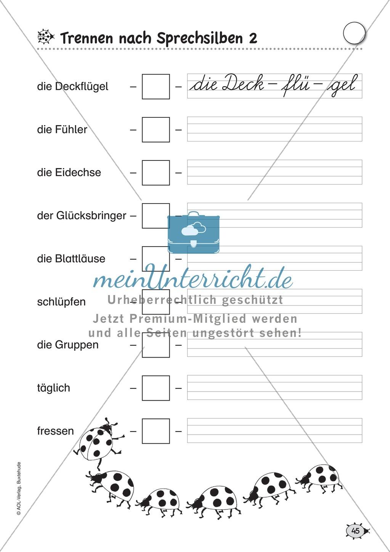 Übungsblätter für das Fach Deutsch zum Thema