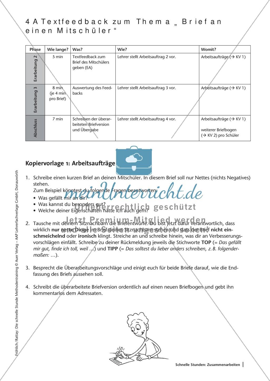 Methodenkompetenz: Feedback zu einem geschriebenen Text Preview 2