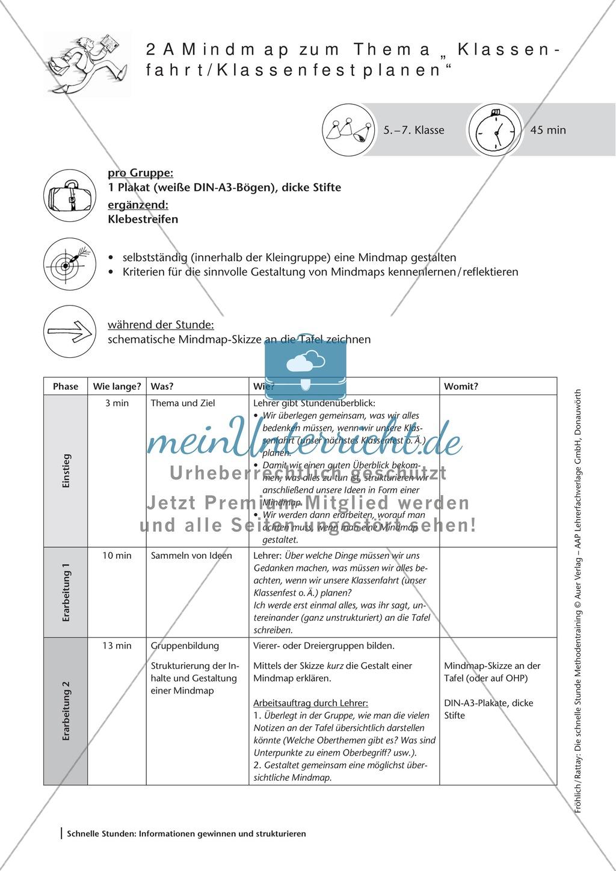 Methodenkompetenz: Mind-Map erstellen Preview 1