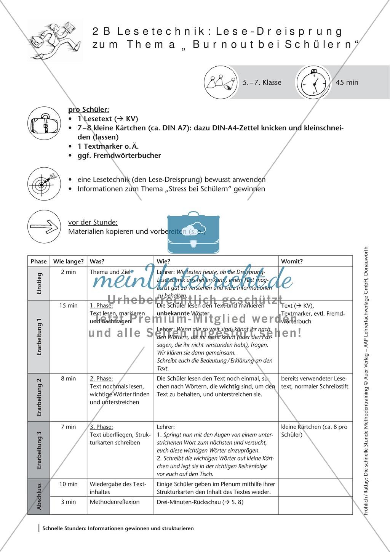 Methodenkompetenz: Lese-Dreisprung Preview 1