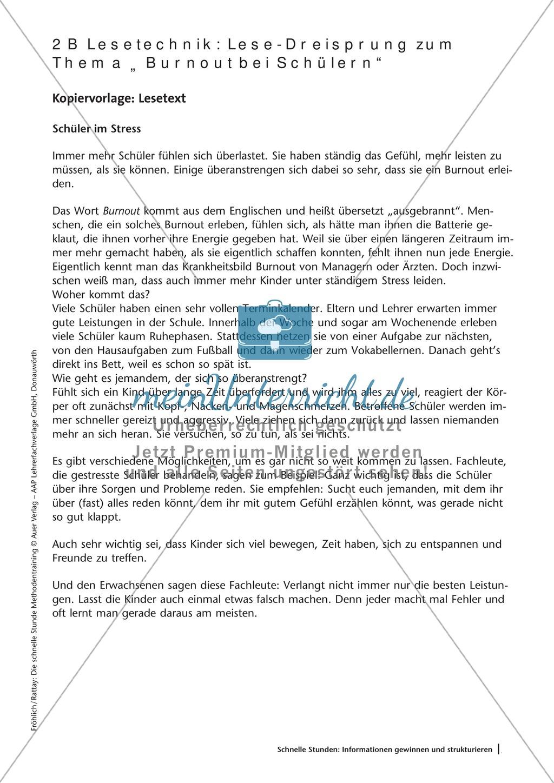 Methodenkompetenz: Lese-Dreisprung Preview 3