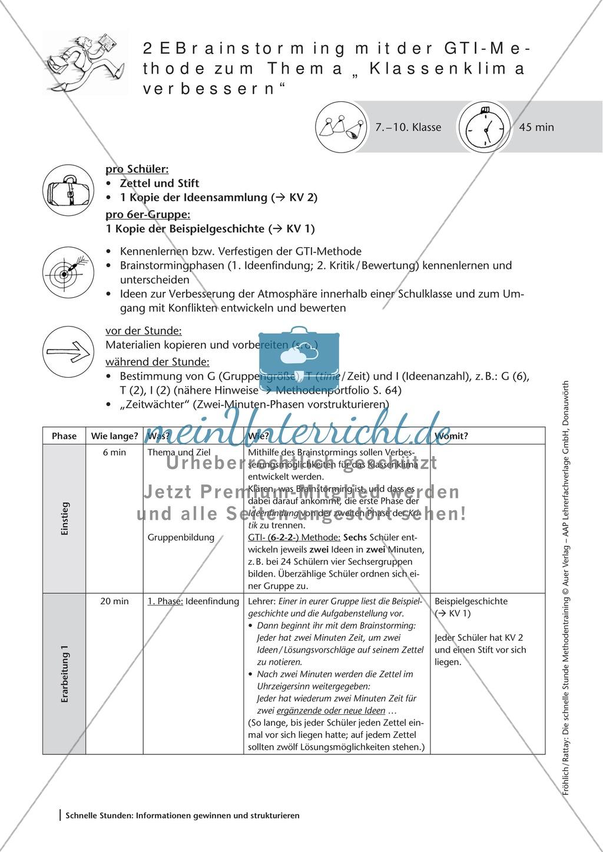Methodenkompetenz: Brainstorming mit der GTI-Methode Preview 1