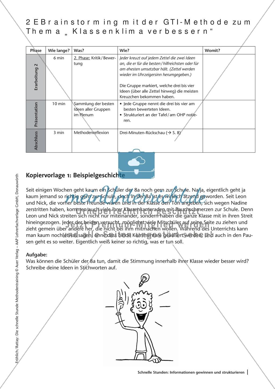 Methodenkompetenz: Brainstorming mit der GTI-Methode Preview 2