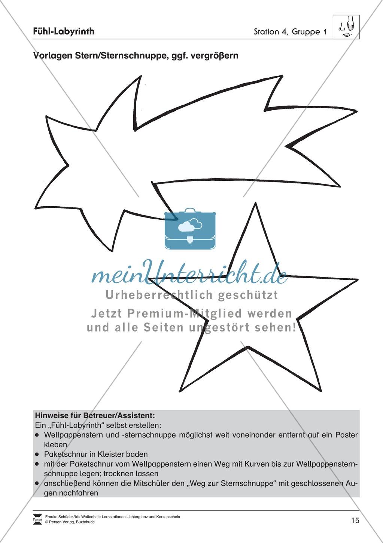 Stationen- bzw. Gruppenarbeit zum Thema Weihnachten + detaillierte Materialliste für die Stationen Preview 14