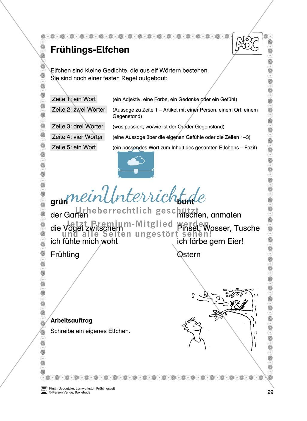 Übungsaufgaben für das Fach Deutsch zum Thema Frühling Preview 10