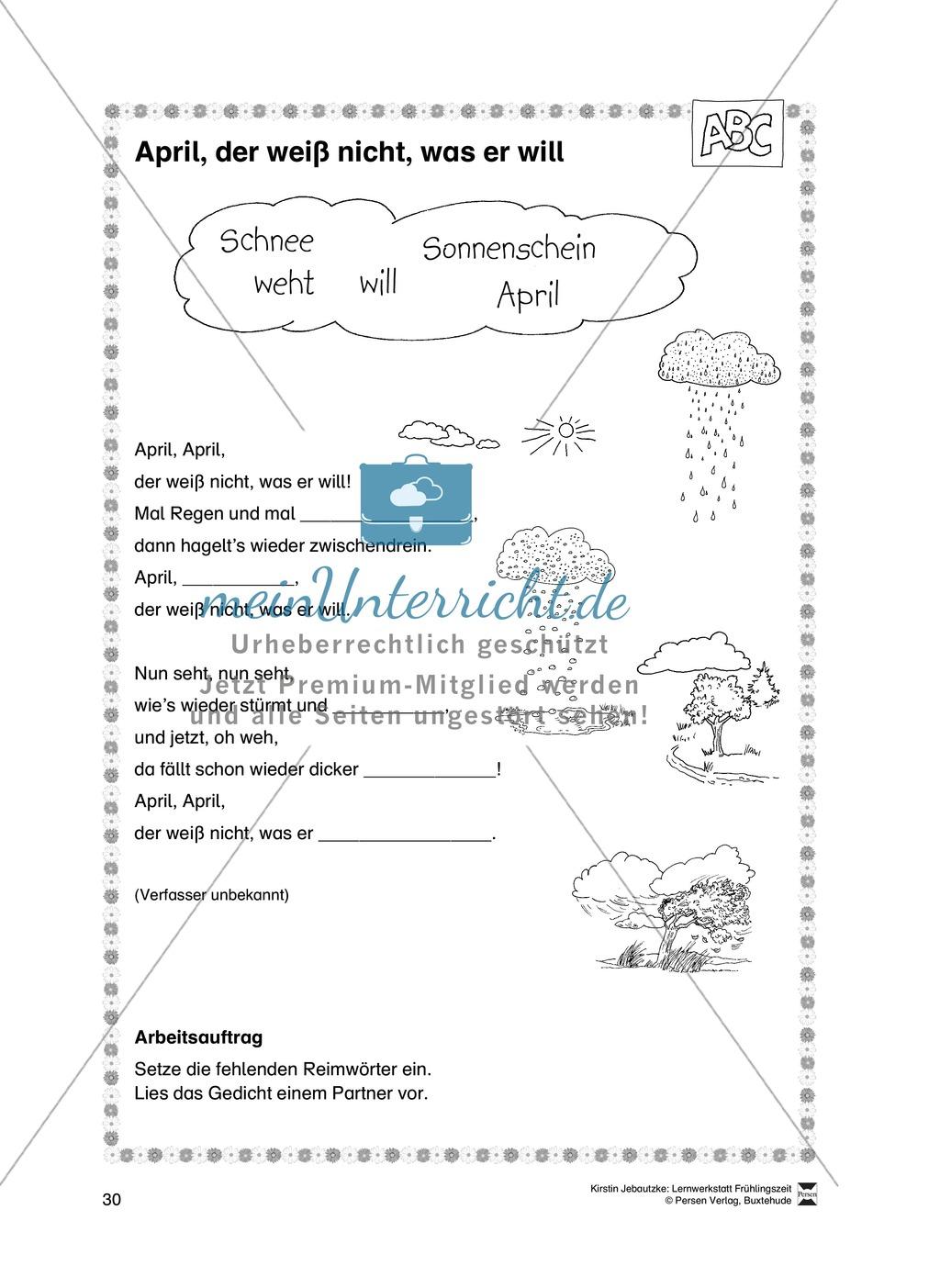 Übungsaufgaben für das Fach Deutsch zum Thema Frühling Preview 11