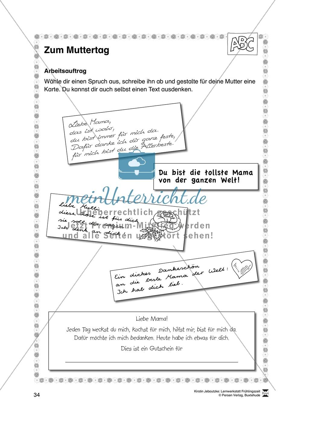 Übungsaufgaben für das Fach Deutsch zum Thema Frühling Preview 15