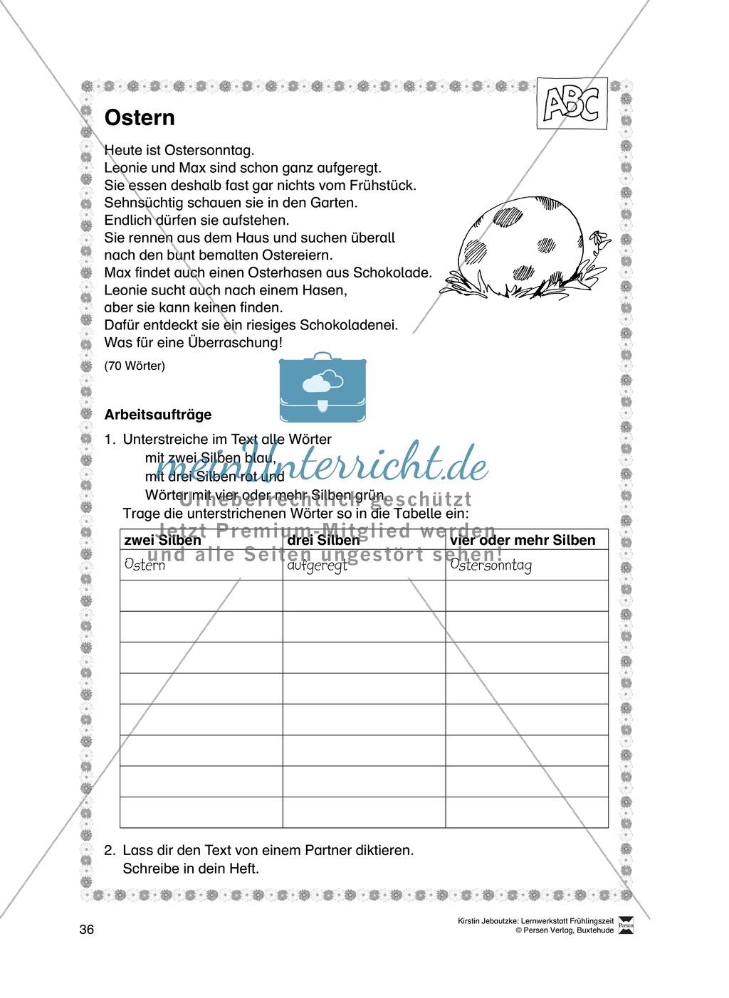 Übungsaufgaben für das Fach Deutsch zum Thema Frühling Preview 17