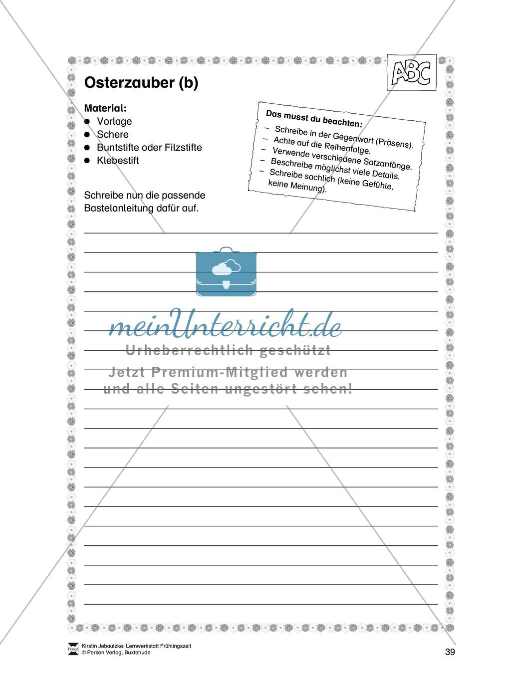 Übungsaufgaben für das Fach Deutsch zum Thema Frühling Preview 20