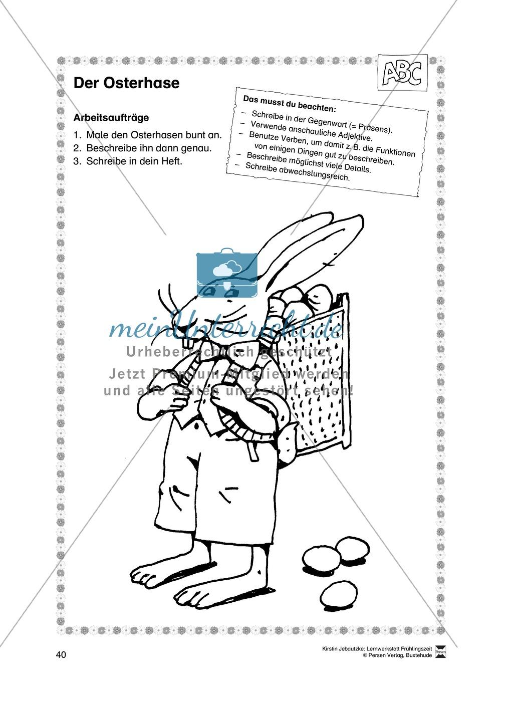 Übungsaufgaben für das Fach Deutsch zum Thema Frühling Preview 21