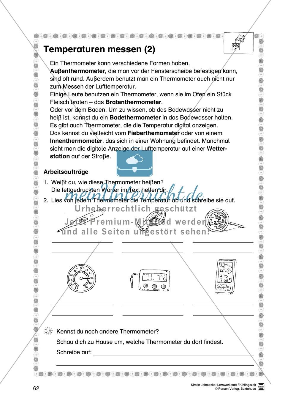 Aufgaben für das Fach Sachkunde zum Thema Frühling Preview 11