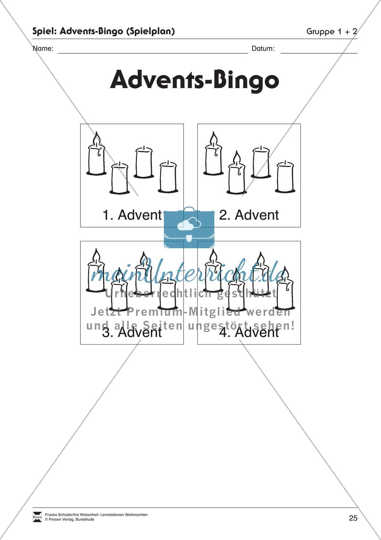 Stationsarbeit zum Thema Advent Preview 19