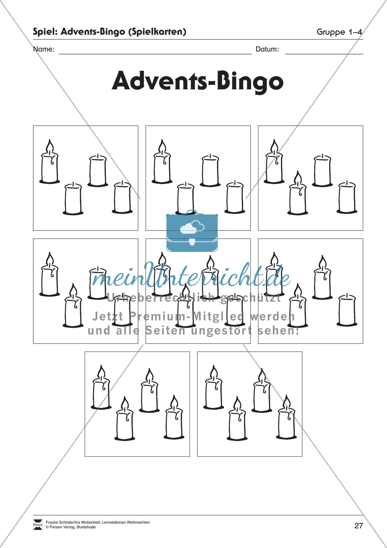 Stationsarbeit zum Thema Advent Preview 21