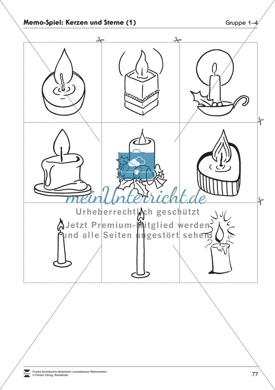 Stationsarbeit zum Thema Lichterglanz und Kerzenschein Preview 16