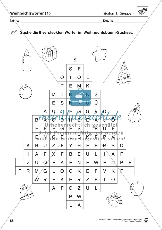 Stationsarbeit zum Thema Vorfreude auf Weihnachten Preview 9
